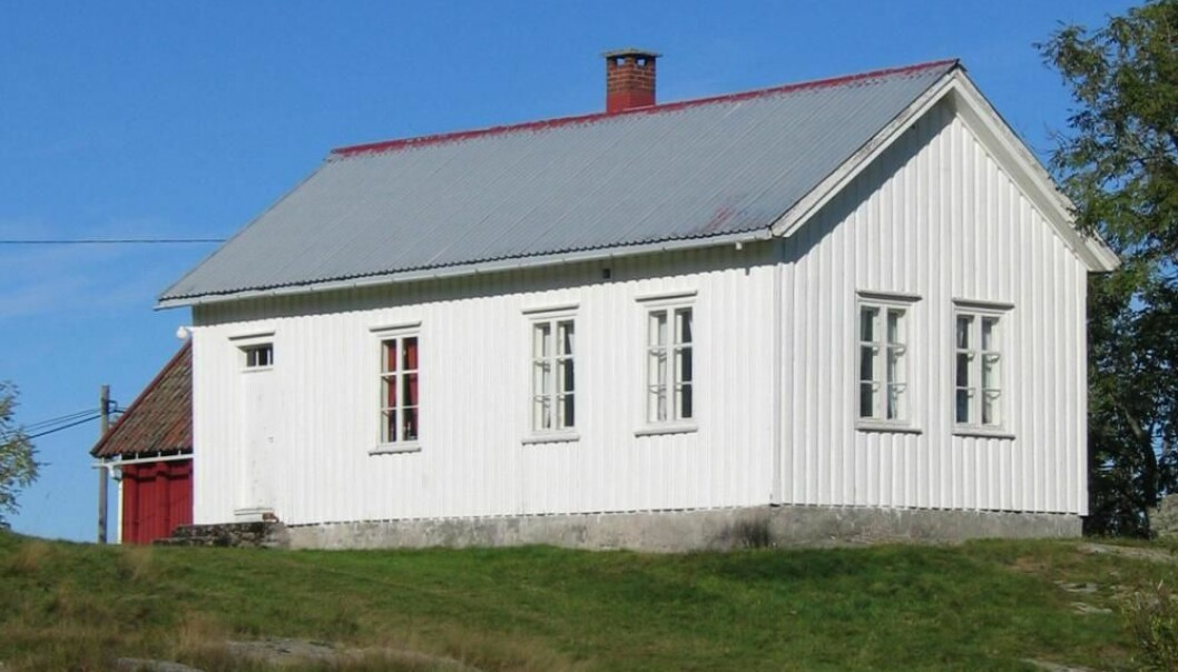 Hørte School in Grimstad, built in 1884, is restored and is now in use as a community centre. (Photo reproduced courtesy of Leidulf Mydland/NIKU)