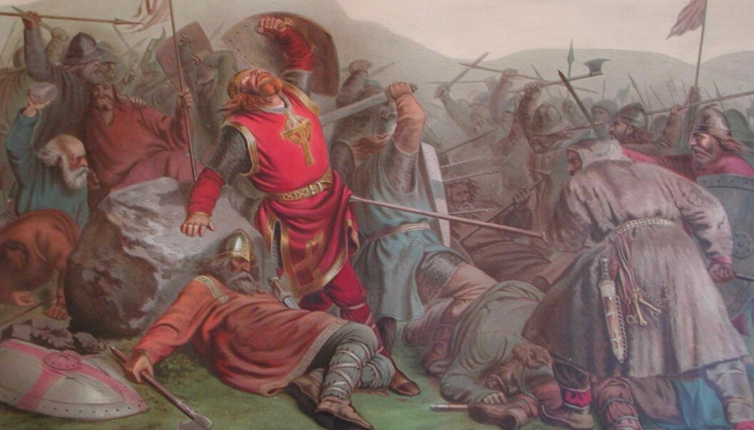St Olav's death at Stiklestad, painted by Peter Nicolai Arbo in 1859. (Photo: Wikimedia Commons)