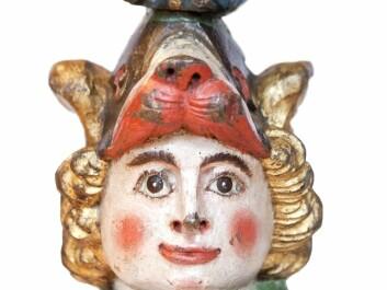 The rudder head on the obverse side. (Photo: Elisabeth Tønnesen/ Museum Stavanger)