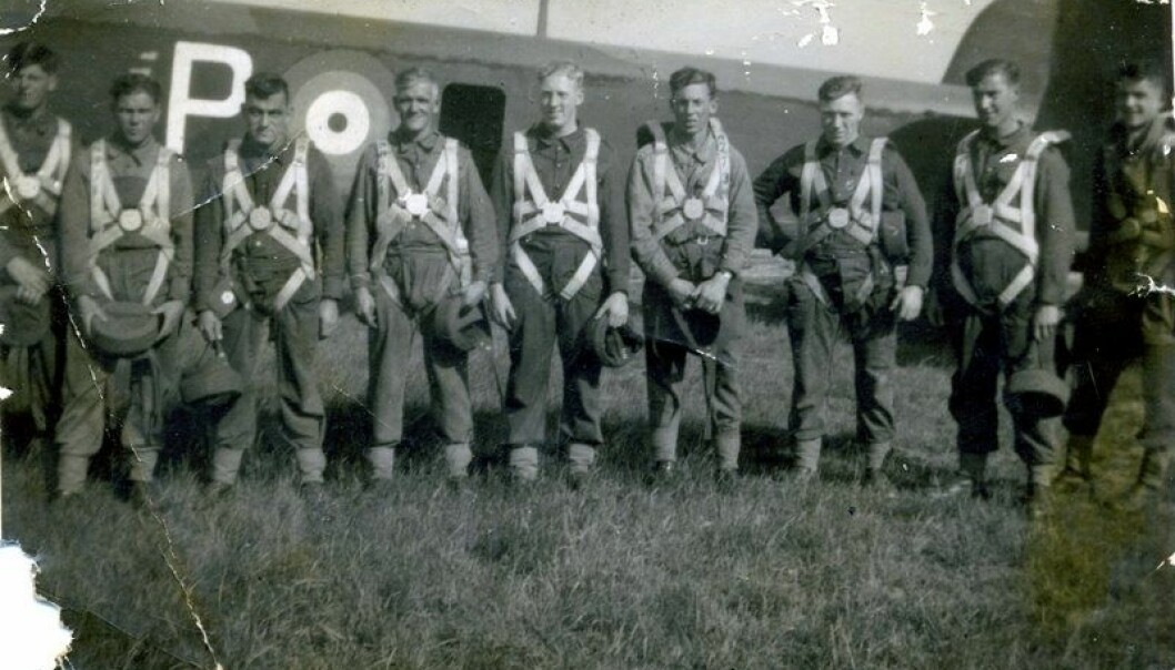 Jump training in 1940. Wallis Jackson, who later participated in Operation Freshman, is second from the right. (Photo: Peter Yeates)