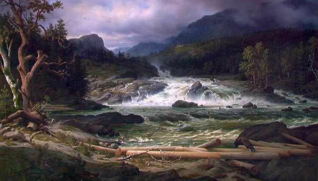 Thomas Fearnley: Labro Falls at Kongsberg. Lillehammer Art Museum.(Image: Wikimedia Commons.)