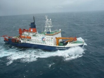 The research vessel Polarstern was used in the project. This photo was taken in september 2004. (Photo: Alfred Wegener Institute)