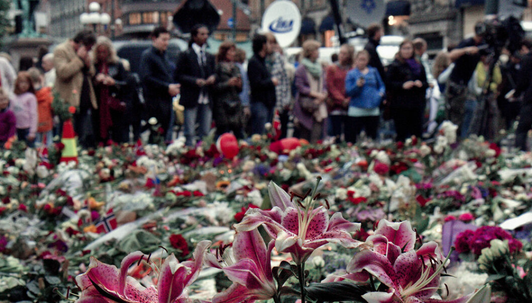 The grounds and street outside the Oslo Cathedral when covered in a sea of flowers nine days after a lone terrorist's bombing of government buildings and shooting rampage that killed 77 people. (Photo: Vidar Josdal/flickr)