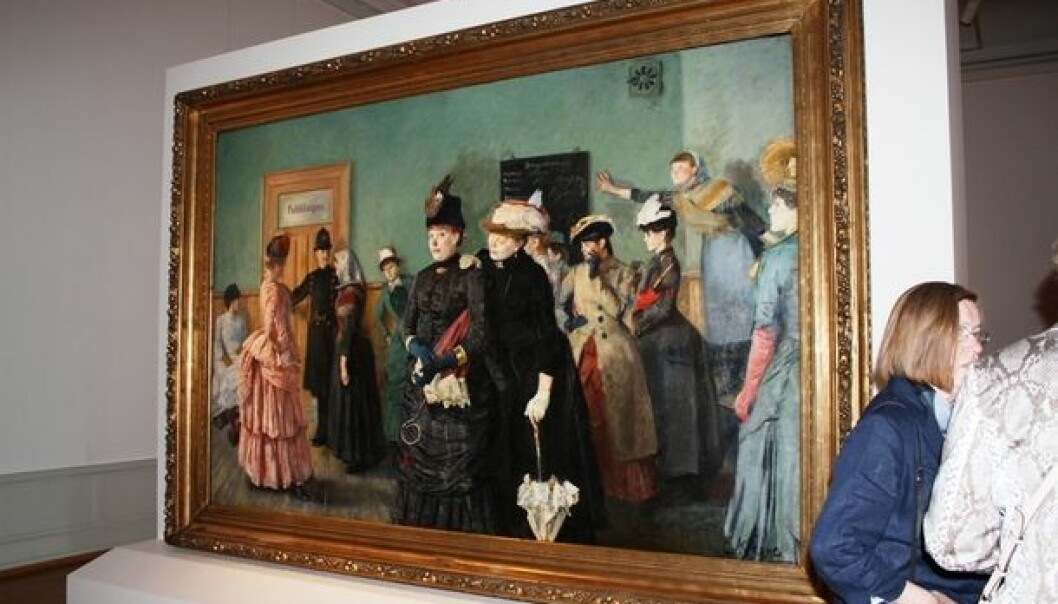 'Albertine to see the Police Surgeon' hangs in a central spot at the Christian Krohg exhibition 'Captivating Images', currently running at the National Gallery in Oslo. (Photo: Marianne Nordahl)