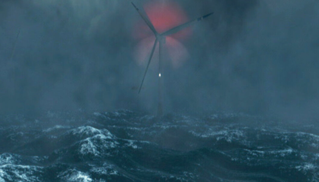 Hywind is a floating wind turbine for installation at sea. (Illustration: Statoil)