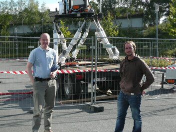Researchers Jon O. Hellevang (left) and Stian H. Stavland at Christian Michelsen Research were key to the tests at Grimstad last autumn. (Photo: Christian Michelsen Research)