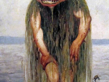 """Draugen, the ghost of a sailor lost at sea, is one of the most well-known mythical creatures from Northern Norway, but it is rarely heard of south of Trondheim. Theodor Kittelsen called his creation: """"The water troll who eats only young girls"""". (Painting: Theodor Kittelsen)"""