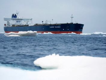 Shipping traffic in the Arctic is increasing. The reinforced supertanker Vladimir Tikhonov last year sailed from Murmansk to Asia and is the largest ship to complete a successful transit of the Northern Sea Route. (Photo: SCF Group Sovcomflot)