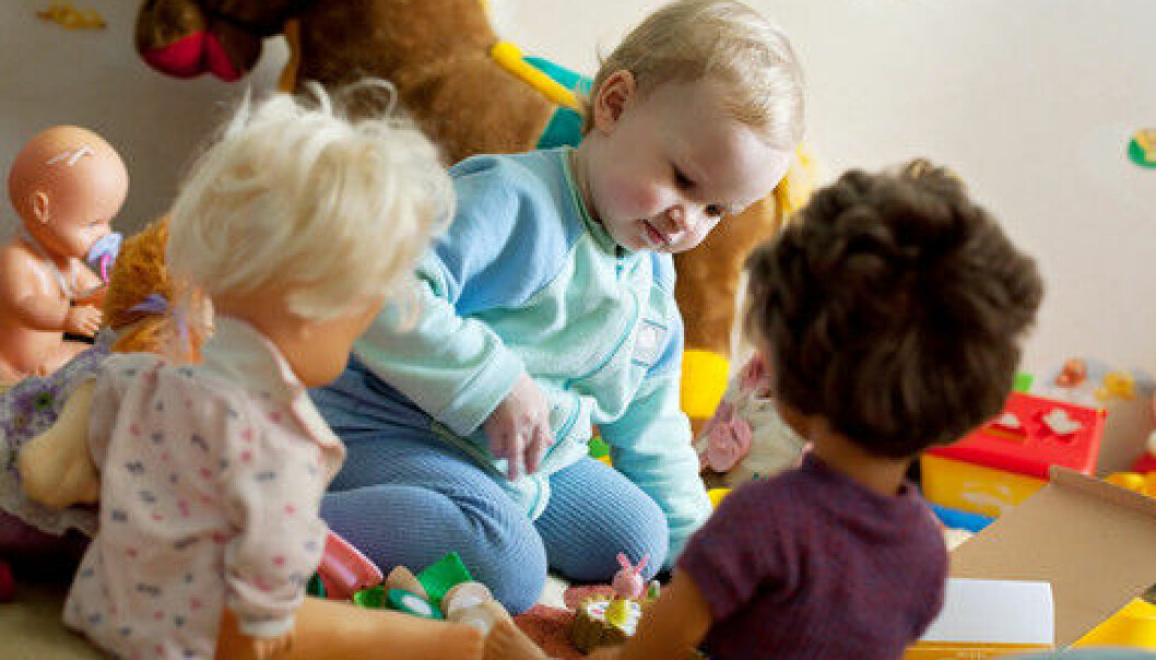 Children with language difficulties often play alone. (Photo: Colourbox)