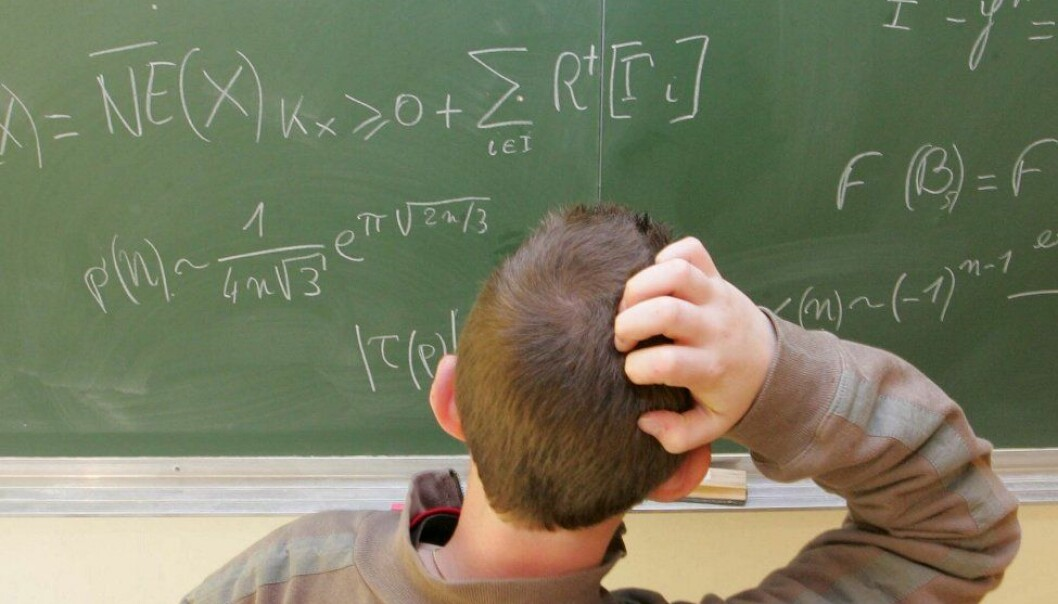 Norwegians students have scored poorly in international tests in mathematics (Photo: Colourbox)