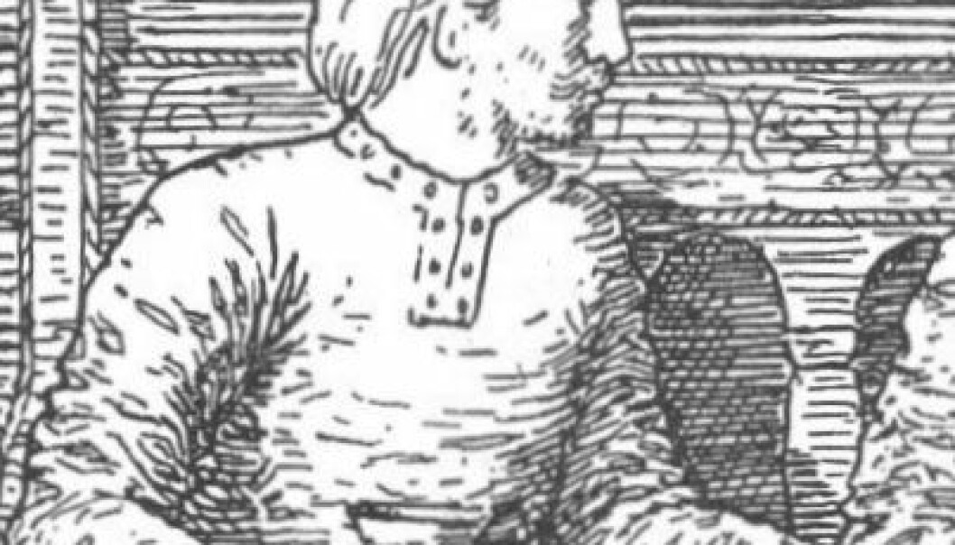 According to the Icelandic poet and historian Snorri Sturluson, Oslo was founded by Harald Hardrade, best known abroad for his failed attempt at conquering England in 1066. (Illustration: Snorre Sturluson: Heimskringla, J.M. Stenersen & Co, 1899)