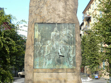 A monument of the Saga King is centred in Harald Hardråde's Circle in Oslo. But no such monument is found in Trondheim at his burial site. (Photo: Chell Hill)