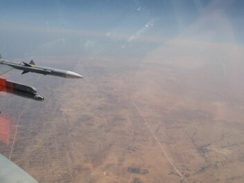 A Norwegian F-16 crosses the Libyan coastline west of Misrata, towards a southwest destination. The Norwegian military efforts in Libya were far more extensive than anything else the country has been involved in since WWII.  (Photo: Norwegian Defence Media Centre /Morten Hanche/Royal Norwegian Air Force)