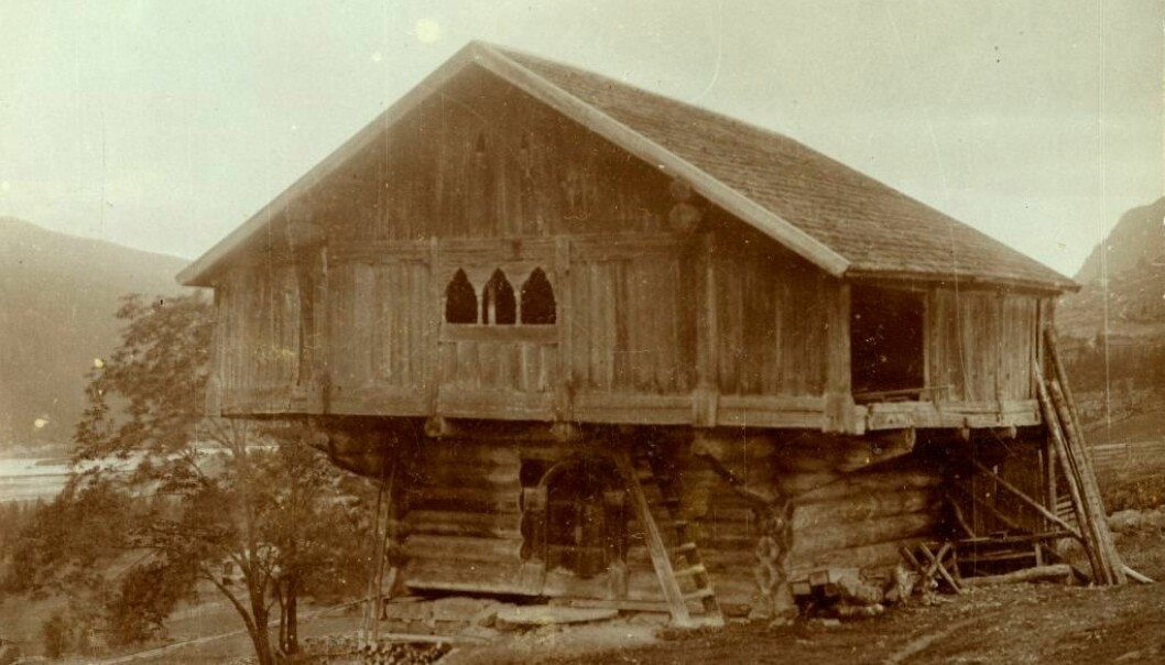 This elevated storehouse was in continual use until the 1900s, when it was moved to an outdoor museum in Hallingdal in 1908. (Photo: Hallingdal Museum)