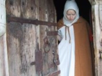 A re-enactment of a legend in the play about the girl in Stave storehouse. (Photo: Hallingdal Museum)