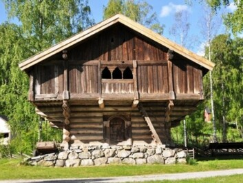 The Stave storehouse today, on exhibit at Hallingdal Museum in Nesbyen. (Photo: Hallingdal Museum)