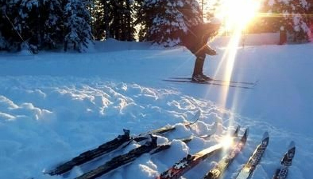 Researchers head to the ski trails to check measurements from the laboratory. (Photo: Private)