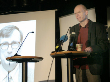 Professor Roger Strand of the Centre for the Study of the Sciences and the Humanities at the University of Bergen spoke about prize winner Bruno Latour's work at the announcement ceremony Tuesday. (Photo: Andreas R. Graven)