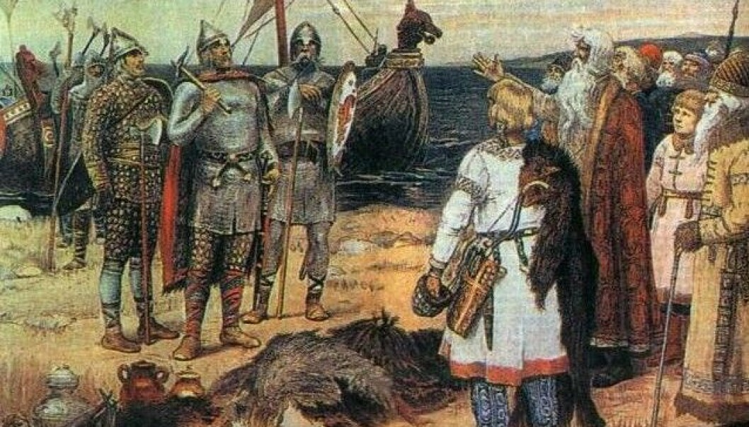 Access to new ways of marking status came when commercial trading and Viking raids brought increased wealth to Norway. Foreign objects were considered cool. (Illustration: Apollinary Vasnetsov/Wikimedia Creative Commons)