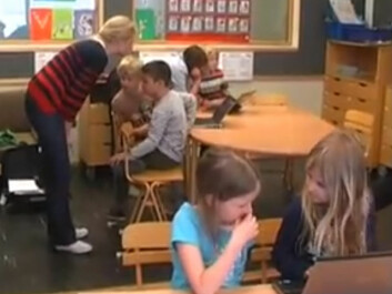 Pupils participating in Integrated Write to Learn trials. (Photo: Arne Trageton/YouTube)