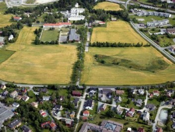 The hospital area as it now stands at Brøset. The psychiatric hospital will have to be moved before construction starts. (Photo: City of Trondheim)