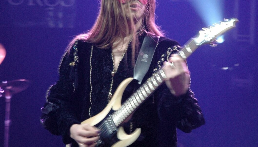 Metal-musician Knut Magne Valle on stage. (Photo: Krzysztof Raś/Wikimedia Commons)