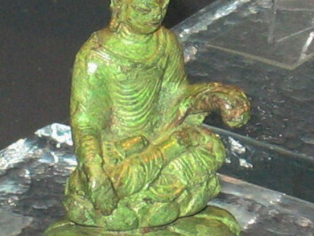 A Buddha statue from the 500s AD, found on the island lake of Helgö in Sweden (Photo: Berig/Wikimedia Commons)