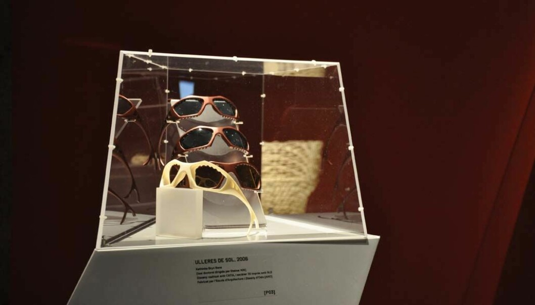 3D printing can make products that are specially tailored to individual customers, like these sunglasses by Kathinka Bene at AHO. (Photo: AHO)