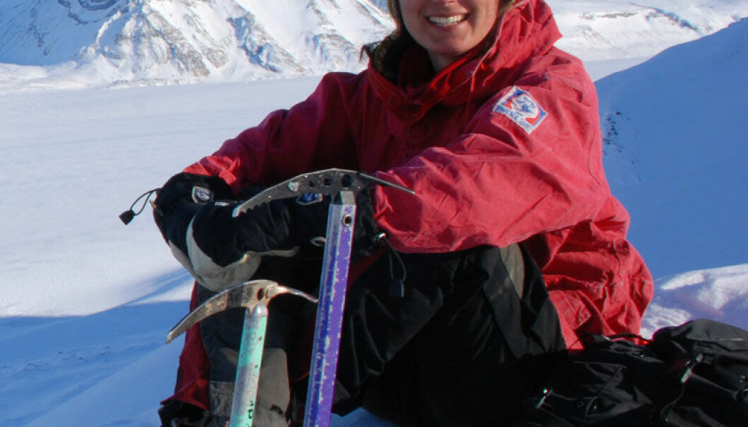 Anne Chapuis at Svalbard (Photo: private)