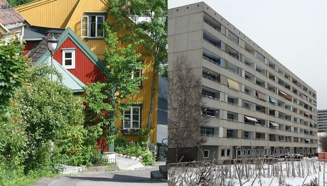 What if we combine the aesthetics and cosiness of wood houses with density of high-rises? Architectural researchers think wooden buildings will have their renaissance, becoming more common in the urban picture. (Photo: Trond Strandsberg/Kindrob/Wikimedia Creative Commons)