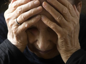 Nearly 40 percent of patients in nursing homes suffer from depression, according to figures from the Norwegian Directorate of Health. (Photo: Colourbox)