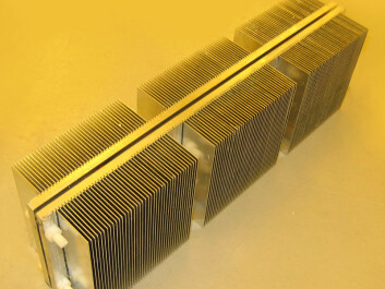 A heat pump with a thermoelectric element (Photo: Jan Kåre Bording, University of Stavanger)