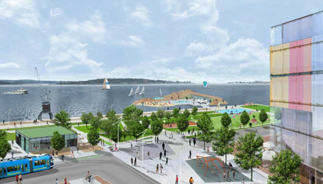 Filipstad, the Fjord Park. (Illustration by 3RW Arkitekter for Oslo Waterfront Planning Office)