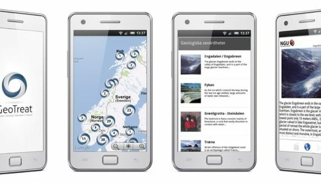Smartphone app GeoTreat. (Ill.: SGU)