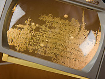 UiO's papyrus research group was previously regarded as one of the world's best.  It is now in the process of returning to its role as a prominent centre of papyrology. (Photo: John Hughes)