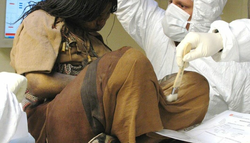 The oldest mummified girl, known as La Donchella – the Maiden.  She and two other child mummies have been under intense examination since 1999. (Photo: José Fontanelli)