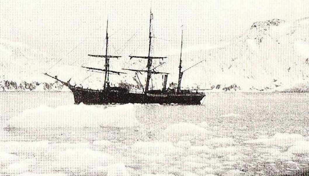 The Swedish sailing vessel Antarctic was used in mapping Antarctica in the beginning of the 20th century but sunk in the icy Weddell Sea in 1903.  New findings indicate that the ship could be well preserved. (Photo: Wikimedia Creative Commons)