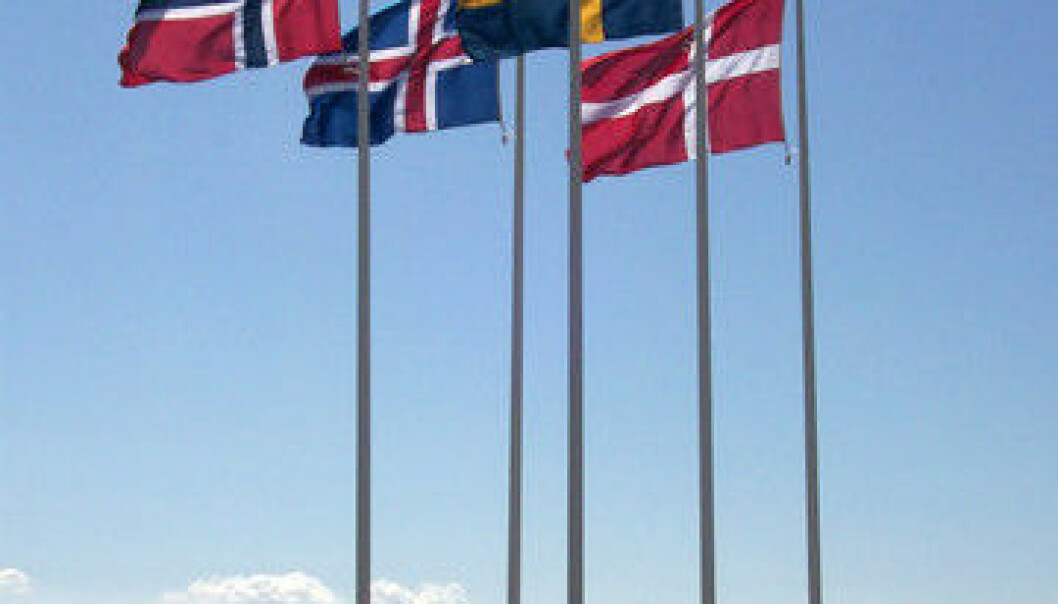 Flags of the Nordic region. (Photo: Colourbox)