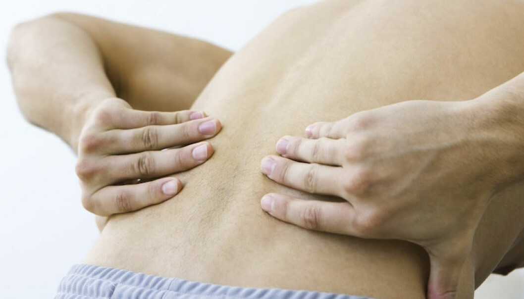 Lumbar pain costs society a fortune and makes life miserable for the sufferers. (Photo: Colourbox)