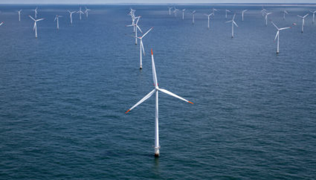 Offshore wind parks are currently only found in shallow water. They will have to float when placed further from land. This means the rotor will spin with the wind while the entire tower bobs around with the waves. (Photo: Colourbox)