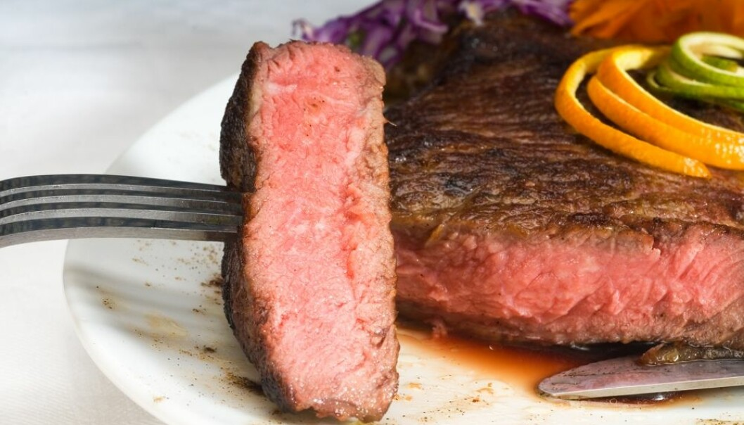 Norwegians are eating more and more meat, even though the climate suffers. (Photo: Colorbox)