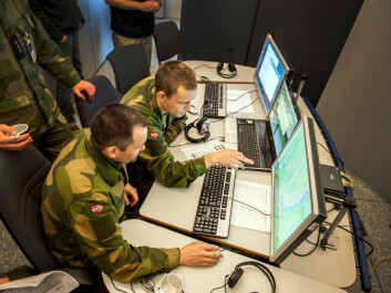 Computers are an important part of future warfare, but it's not going to look like a movie. (Photo: FFI)