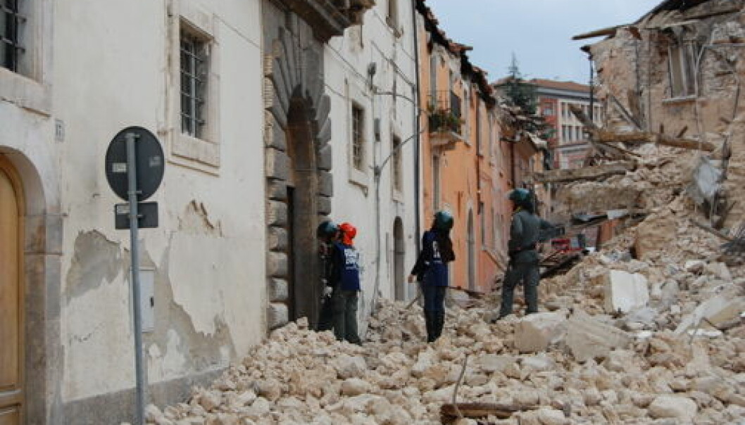In 2009, a magnitude 6.3 earthquake struck the village of L'Aquila, in the Apennines, killing more than 300 people. enpasedecentrale/wikicommons)