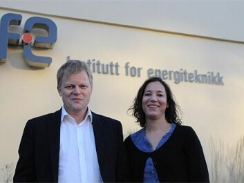 Hydro Aluminium's Ole Runar Myhr, project manager of the MINAC project, and Kjerstin Ellingsen, Senior Research Scientist at SINTEF Materials and Chemistry. (Photo: The Research Council of Norway)