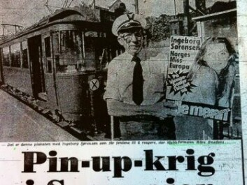 "The Norwegian newspaper VG's story ""Pin-up war on the tramways"" from August 1977. (Photo: Facsimile)"