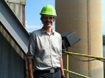 Phd-candidate Mads Dahl Gjefsen on a power plant in Alabama as part of his field work. (Photo: Private)