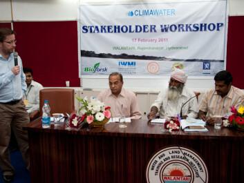 Stakeholder workshop in Hydearabad, India. Per Stålnacke to the left. (Photo: Ragnar Våga Pedersen)