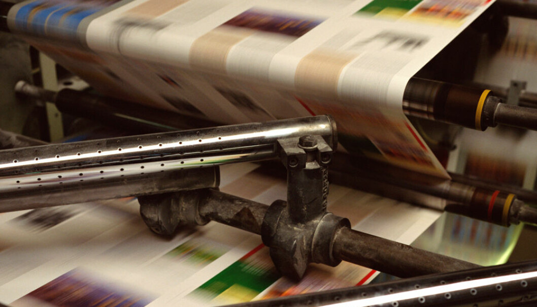It might be in a century; it might be in just 15 years. Researchers are unable to predict when the last newspaper will be printed. (Photo: Colourbox)