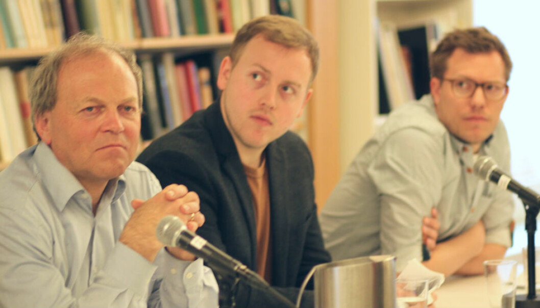 Tore Bjørgo (left), Lars Erik Berntzen and Jacob Ravndal all research right-wing extremist groups. At a recent workshop it emerged that several researchers have been contacted by Anders Behring Breivik, who is in jail for a massacre that claimed 77 lives in 2011. (Photo: Johanne Severinsen)