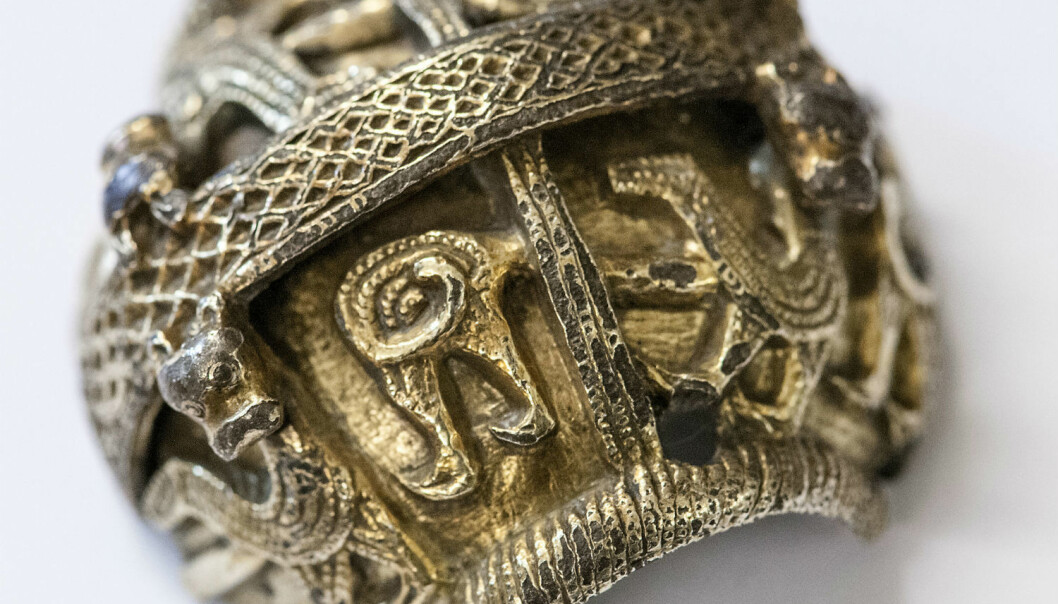 If Norwegian Vikings had not stolen this part of a British crozier, it would have almost certainly been lost. (Photo: Åge Hojem/NTNU University Museum)